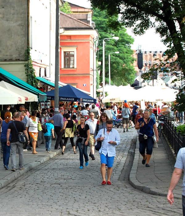 Krakau Stadtviertel Kazimierz Breite Straße