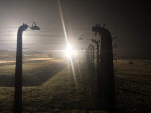 Auschwitz-Birkenau Stacheldrahtzaun