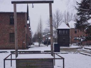 Auschwitz-Birkenau Galgen im Stammlager