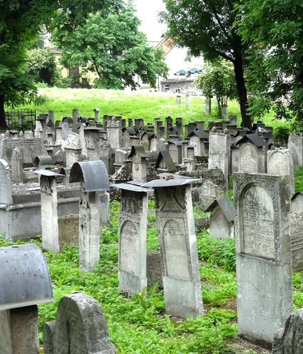 Krakau Stadtviertel Kazimierz jüdischer Friedhof