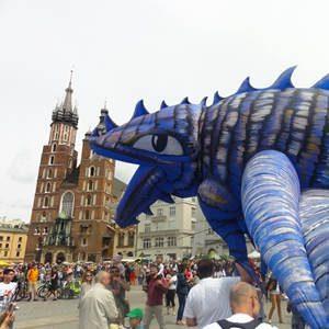 Krakau Drachenparade