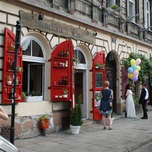 Krakau-Kazimierz Strassenszene