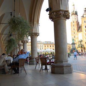 Krakau Tuchhalle und Marienkirche